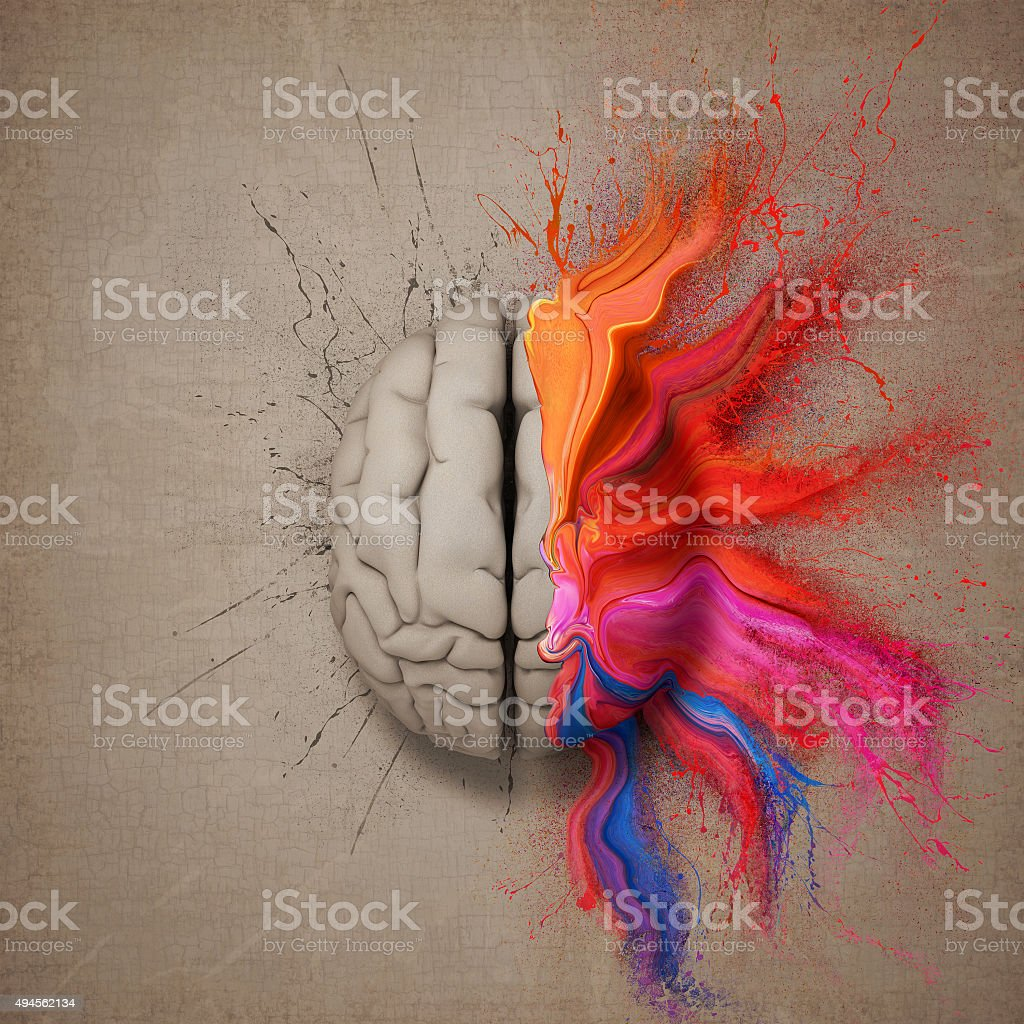 The Creative Brain stock photo
