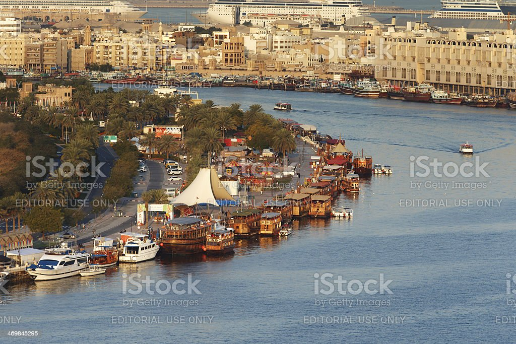 The Creek area of Dubai, UAE royalty-free stock photo