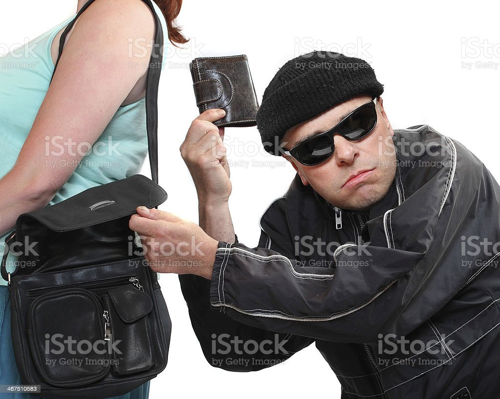 The Crime. stock photo