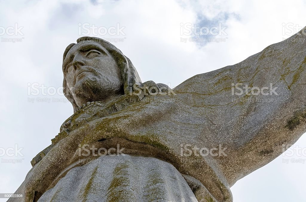 The Cristo Rei  monument of Jesus Christ in Lisbon stock photo