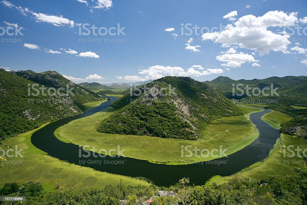 The Crnojevic River stock photo