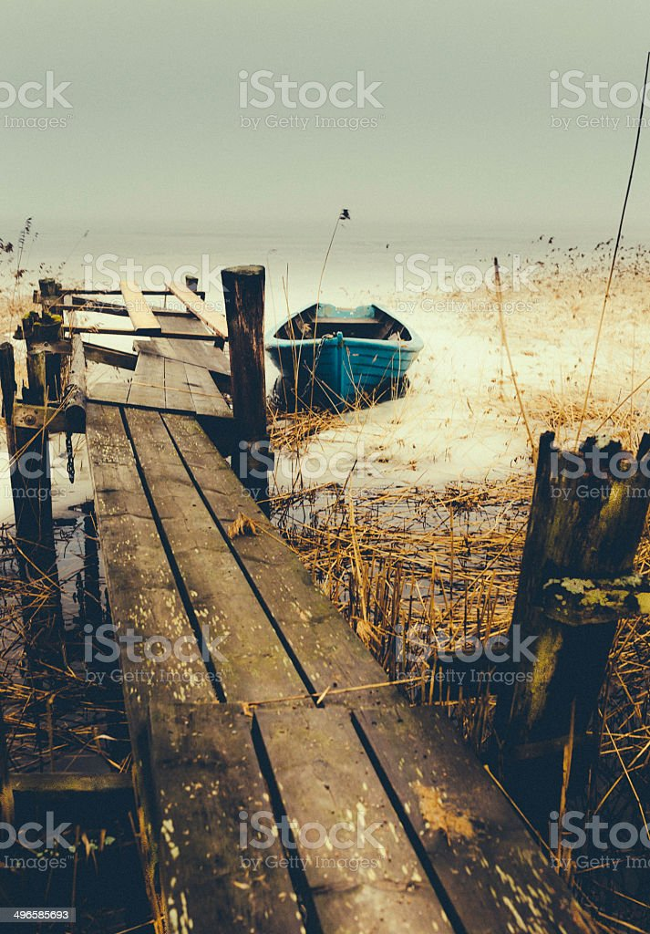 The crooked fisherman royalty-free stock photo
