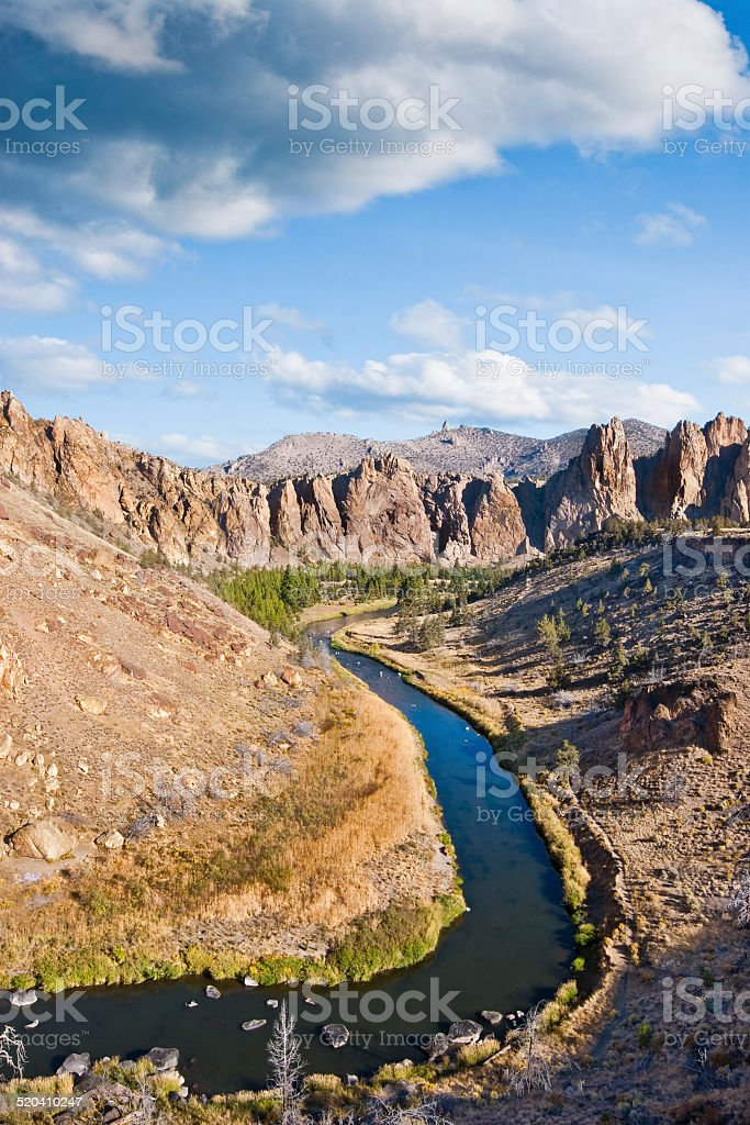 The Crooked River Gorge stock photo