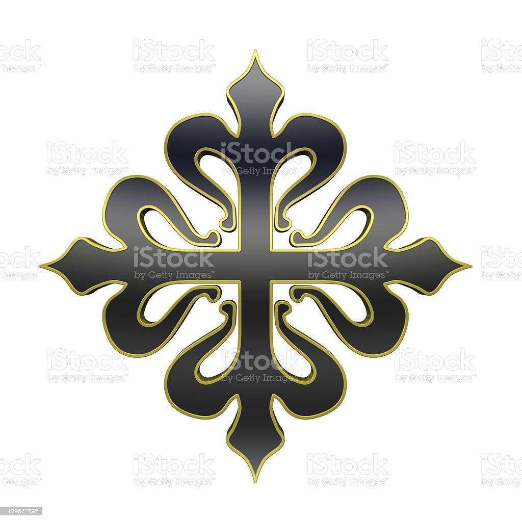 The cross of Calatrava. royalty-free stock photo