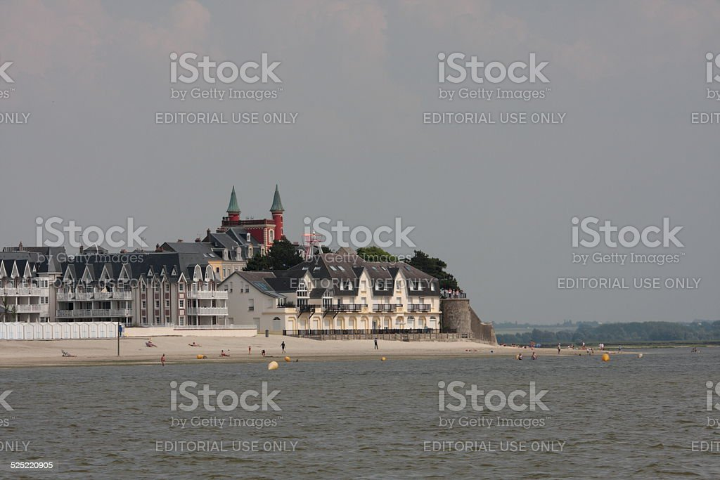 Le crotoy in Somme bay stock photo