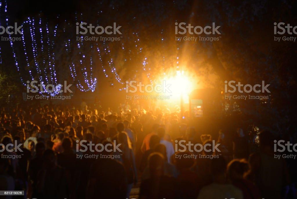Concert crowd at live concert. Unrecognizable persons