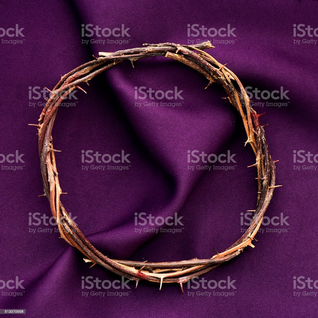 the crown of thorns of Jesus Christ stock photo