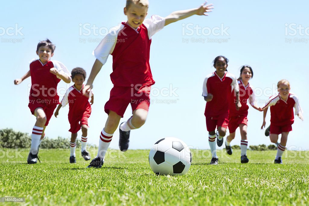 The crucial kick stock photo