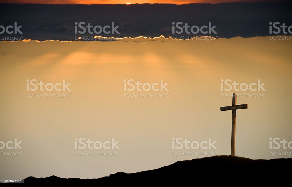 The Crucifix on Good Friday royalty-free stock photo