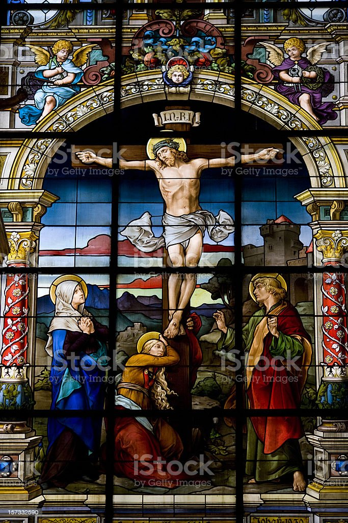 The Crucifixation by F. Zettler (Stockholm) stock photo