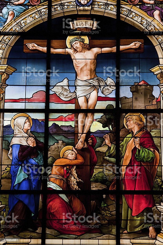 The Crucifixion of Christ stock photo