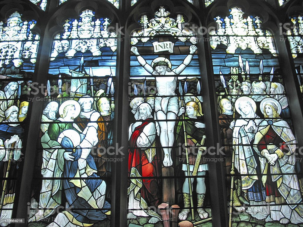 The Crucifixion of Christ - Stained Glass royalty-free stock photo