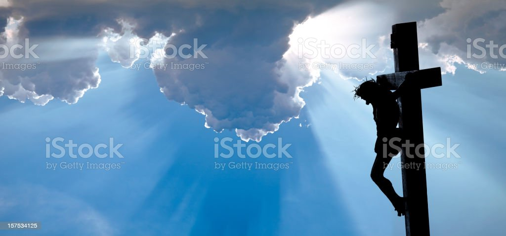 The Crucifixion of Jesus Christ royalty-free stock photo