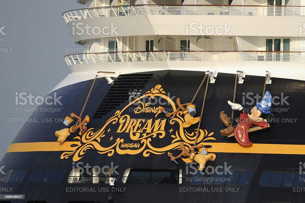 The cruise ship Disney Dream stock photo