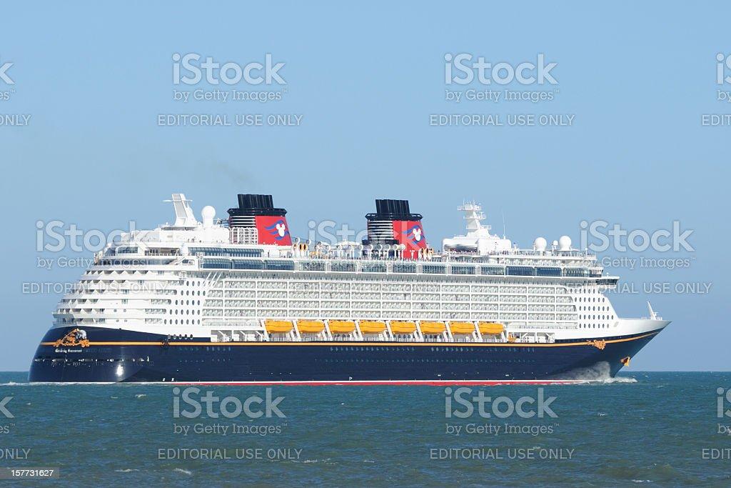 The Cruise Ship Disney Fantasy stock photo