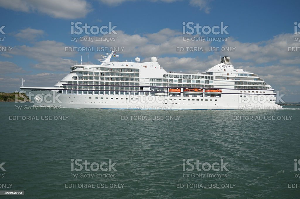 The Cruise ship Seven Seas Navigator stock photo