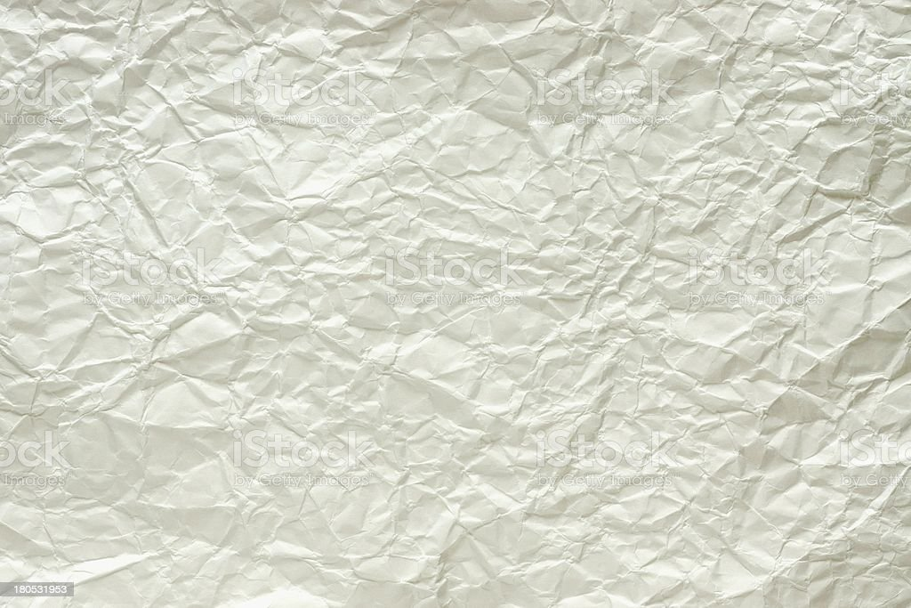 The crumpled standard sheet royalty-free stock photo