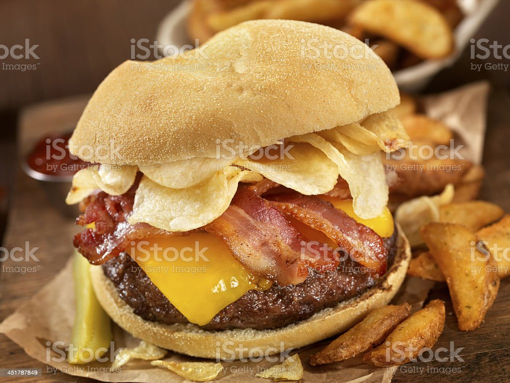 The Crunch Burger stock photo
