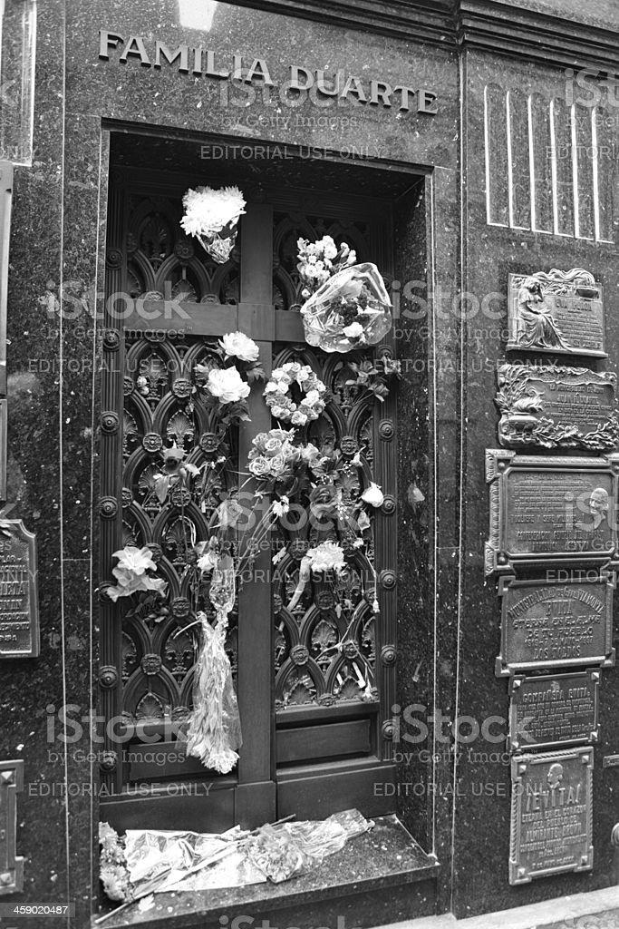 the crypt of Eva Peron royalty-free stock photo