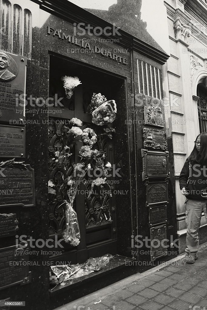 The crypt of Eva Peron royalty-free stock photo