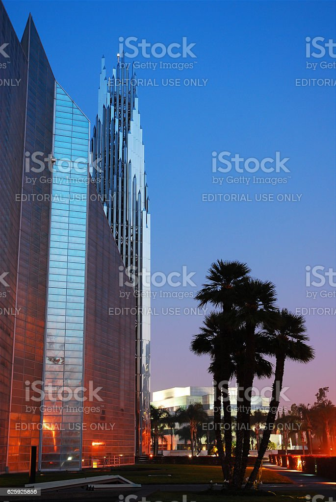 The Crystal Cathedral stock photo