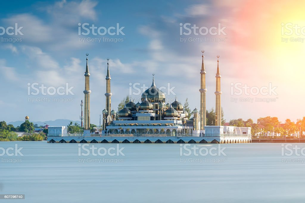 The crystal mosque in Kuala Terengganu, the beatiful stock photo