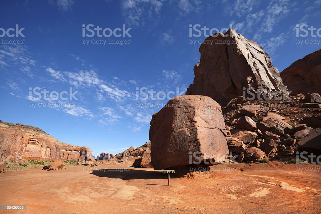 The Cube, Monument Valley, Southwest USA. royalty-free stock photo
