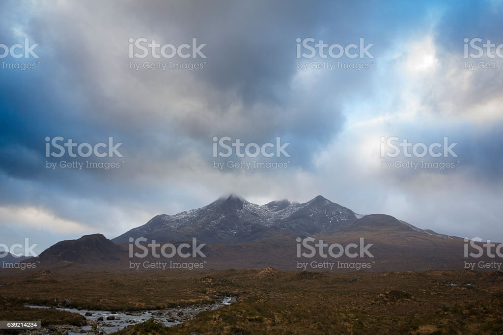 The Cuillin Mountains stock photo