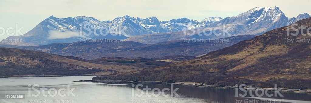 The Cuillins from Knoydart stock photo