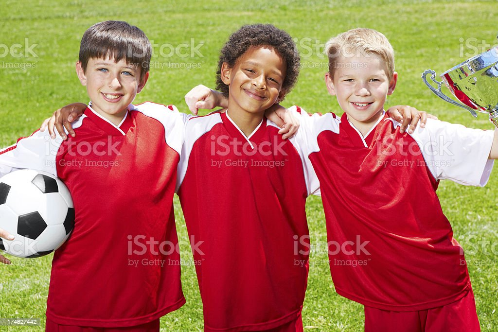 The cup is ours! royalty-free stock photo