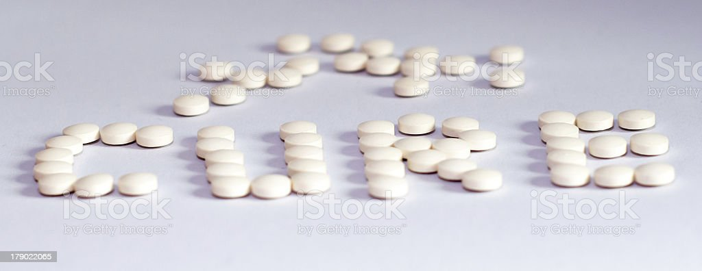 The Cure - tablets royalty-free stock photo