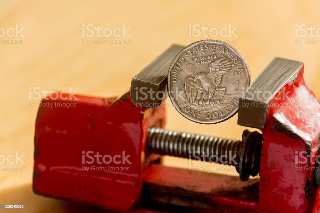 The currency is under pressure stock photo
