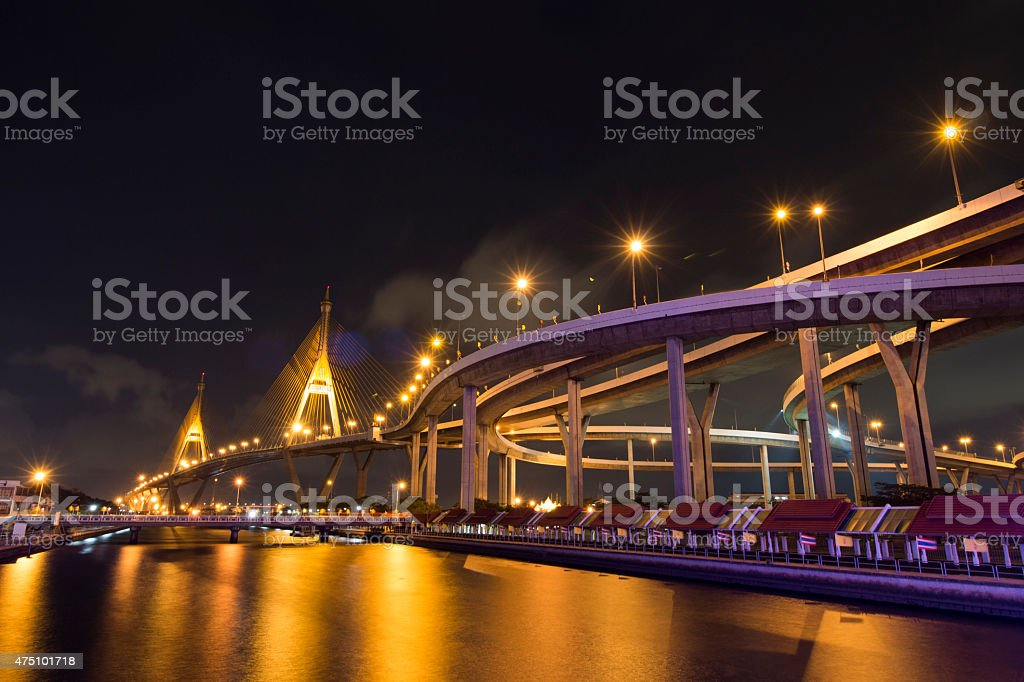 The Curve @ Bhumiphon bridge stock photo