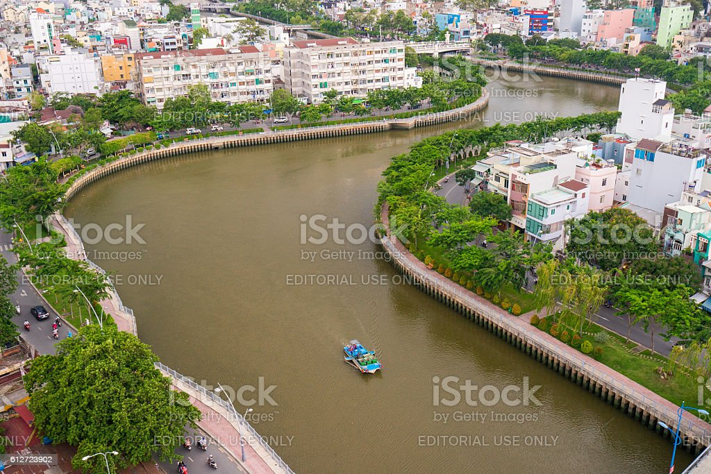 The Curve of Nhieu Loc Canal, stock photo