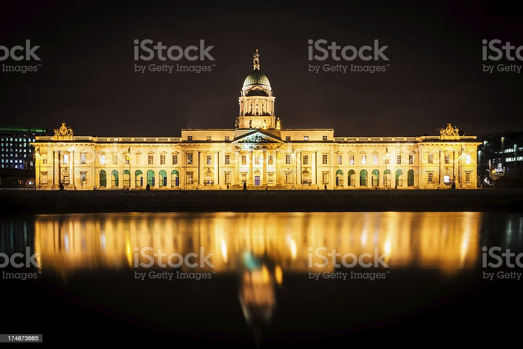 The Custom House Dublin, Ireland royalty-free stock photo