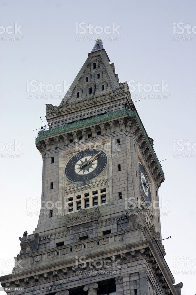 The Customs House Clock Tower royalty-free stock photo