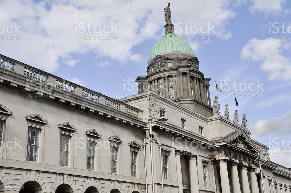 The Customs House in Dublin, Ireland royalty-free stock photo