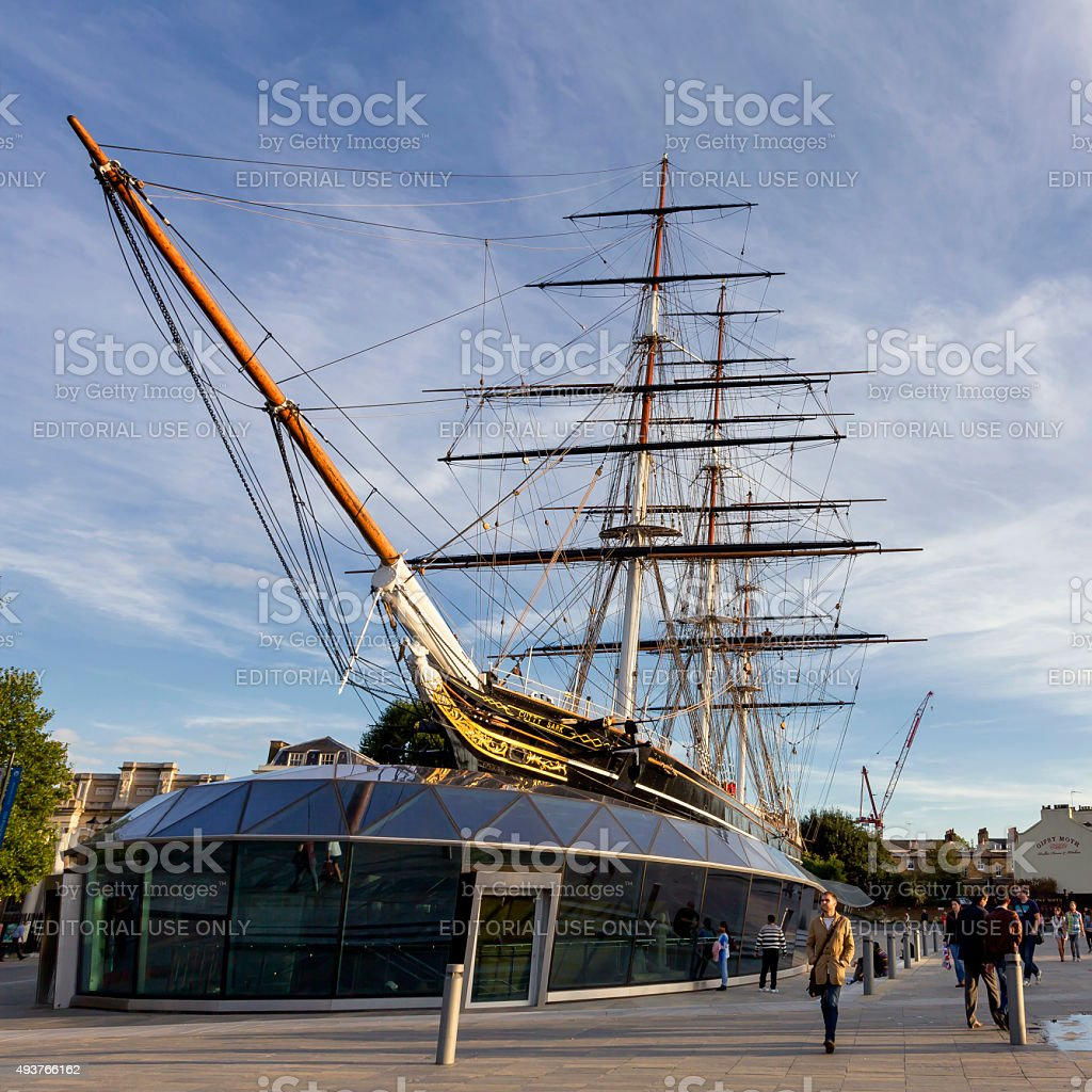 The Cutty Sark in Greenwich, London stock photo