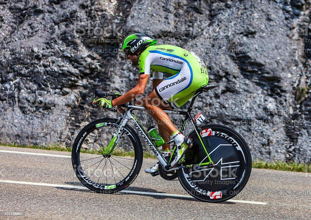 The Cyclist Moreno Moser stock photo