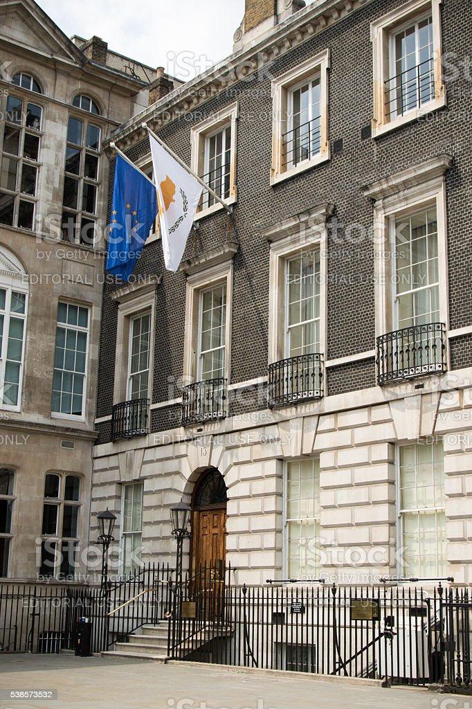 The Cyprus High Commission, London, United Kingdom stock photo