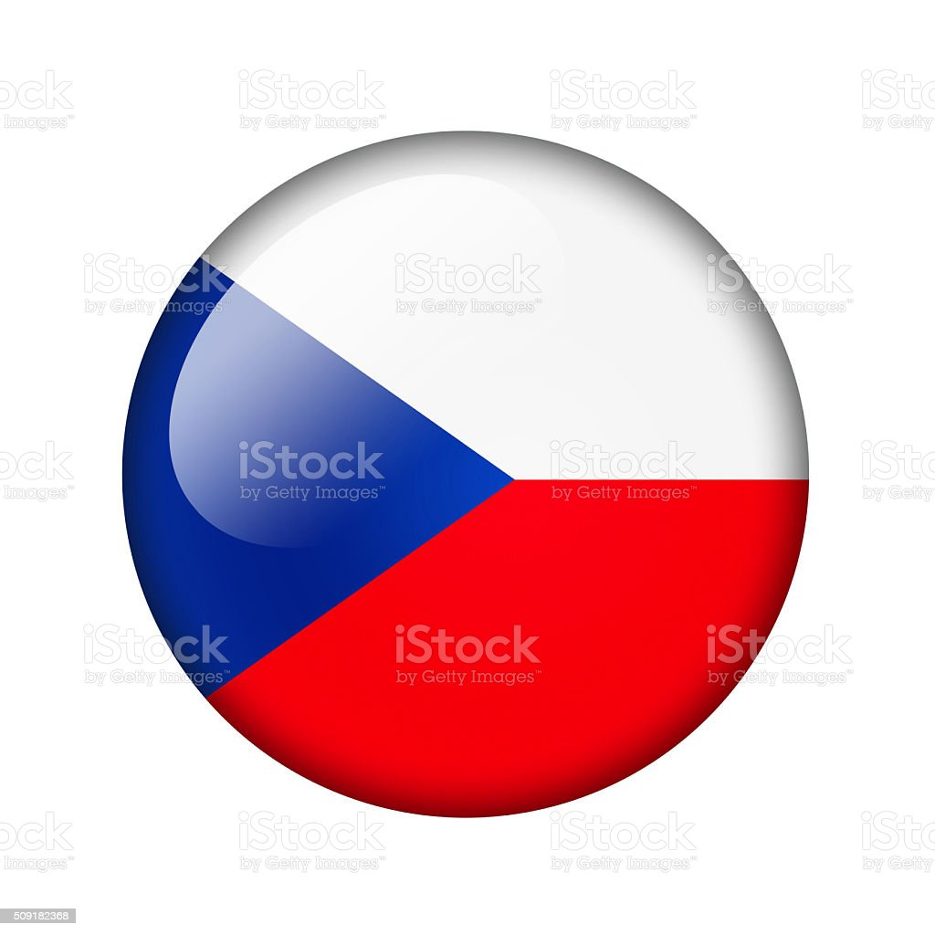 The Czech flag vector art illustration