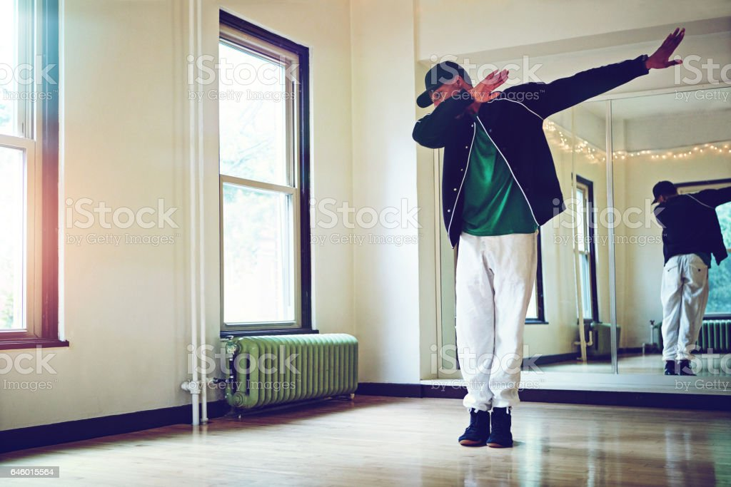 The dab is all about that swag stock photo