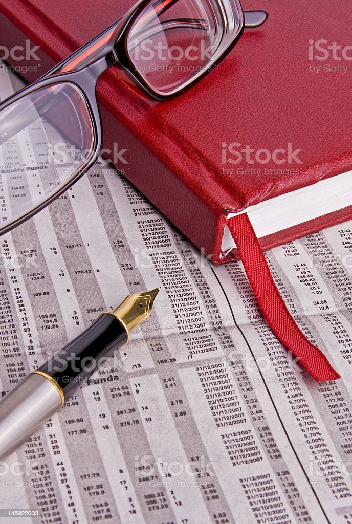 The daily finances royalty-free stock photo