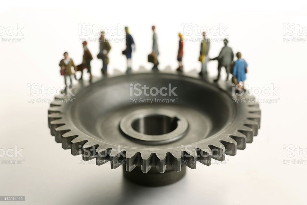 The Daily Grind stock photo