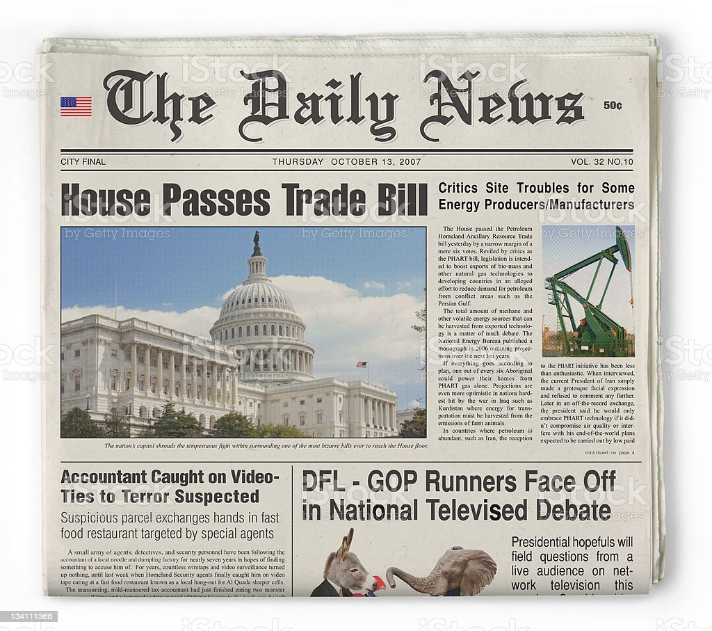 The Daily News stock photo