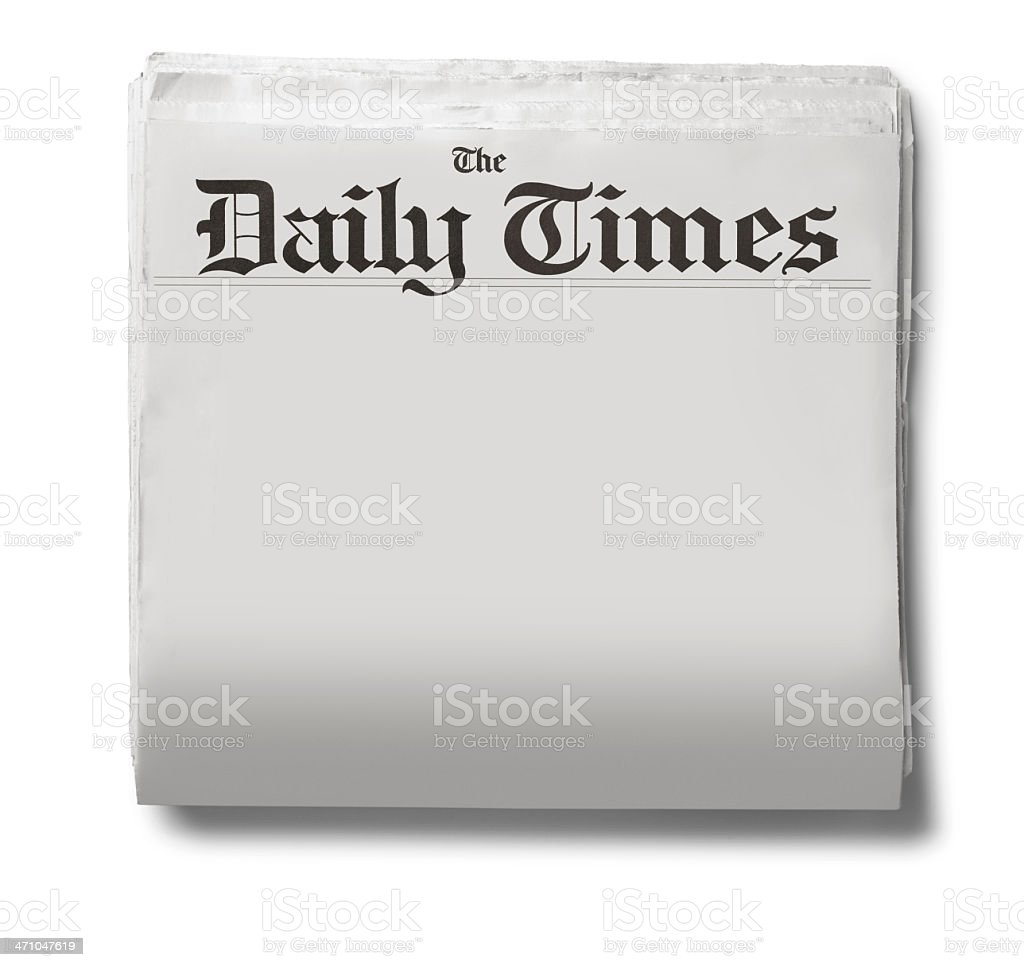 The Daily Times stock photo