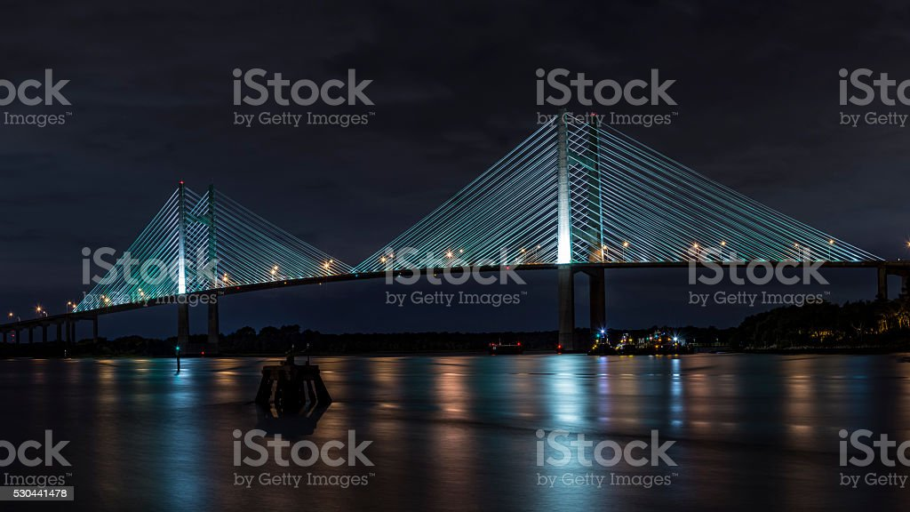 The Dames Point Bridge stock photo