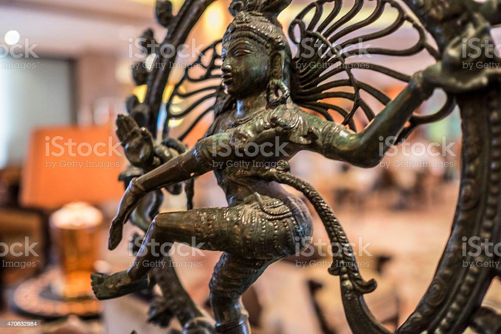 The Dance Diety Statuette (Nataraj) stock photo