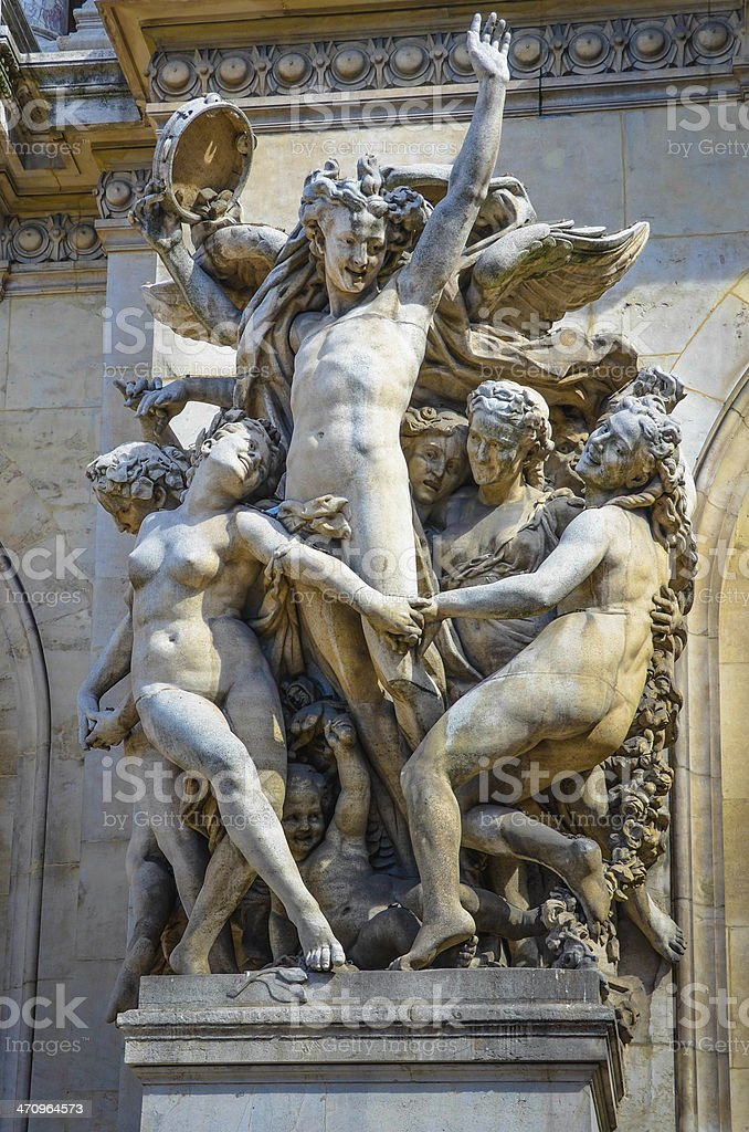 The Dance Sculpture of Palais Garnier stock photo