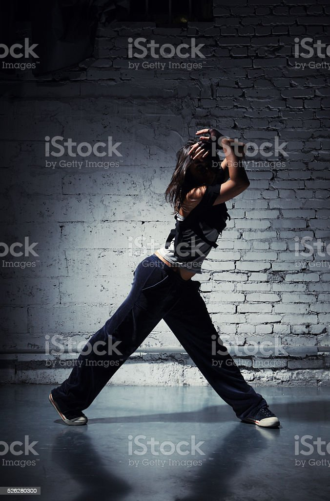 The dancer in motion stock photo